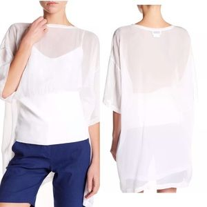 New with tags. White DKNY shirt